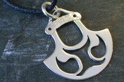 Andrew Nulukie, project 2, pierced pendant, sterling silver