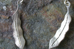 Andrew Nulukie, project 3, earring, nickel silver and sterling silver